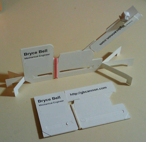 Design tavern mixing work with play creative business cards this first design is by bryce bell who has devised a way to take the typical 2 x 3 business card layout and transform it into a business card catapult reheart Gallery