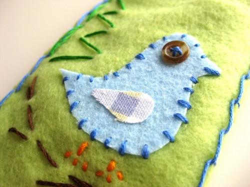 Ipod Fleece Cozy - Twitter Bird