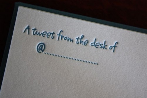 A tweet from the desk of..