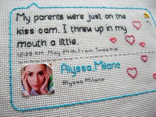 Alyssa Milano Tweet Stitch