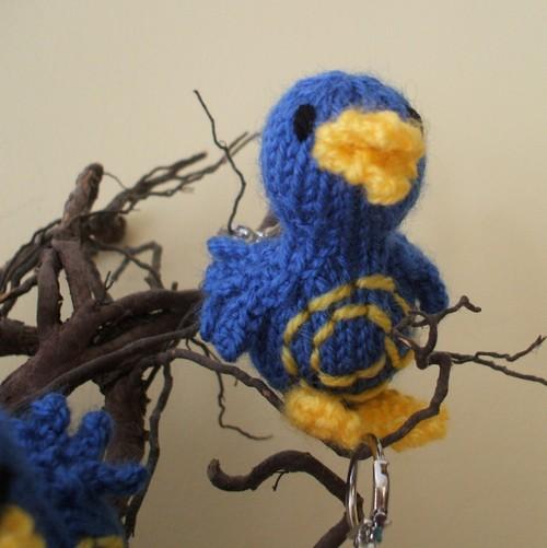 Twitter bird key chain bag charm