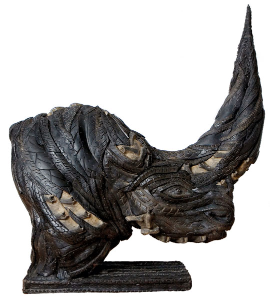 Ji Yong Ho tire sculpture rhino