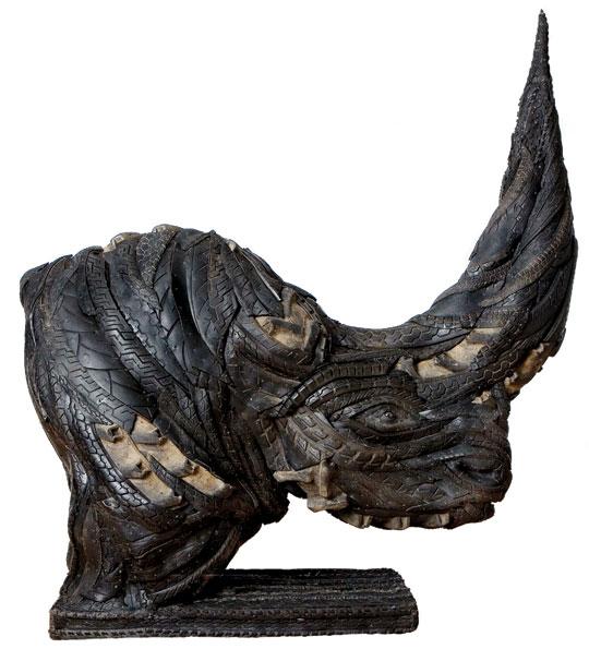 Ji Yong Ho tire sculpture rhino