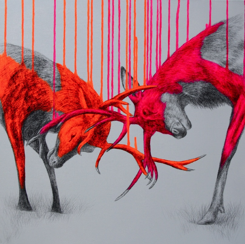 Wild-times-Sacrylic-spray-paint-and-pencil-on-linen-600x60x4cm-092012 (1)